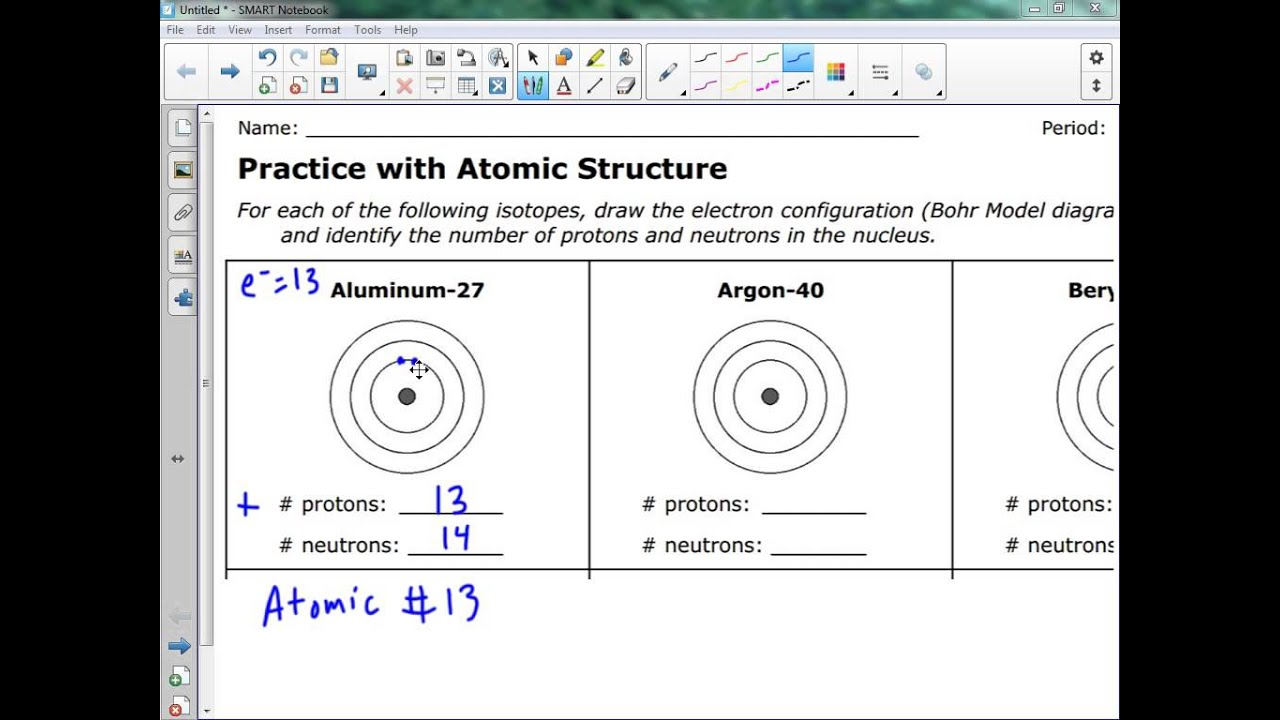 Bohr model diagram tutorial youtube bohr model diagram tutorial ccuart Images