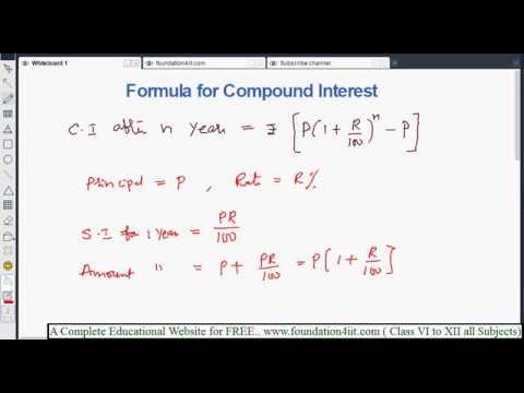Formula for Compound Interest || Class 8 Maths ICSE ||