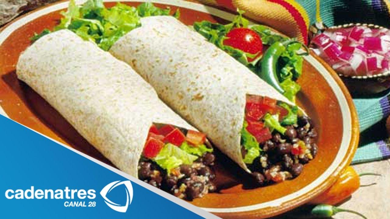 Receta de Burritos de carne adobada con salsa de rbol