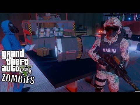 GTA 5 APOCALIPSIS ZOMBIES VS MARINA ARMADA DE MEXICO -EP#10  GTA V MODS PC EdgarFtw