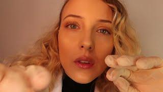 ASMR   Latex Glove Face and Body Physical Exam