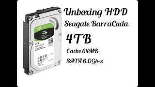 Unboxing HDD Seagate Baracuda 4TB