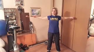 Фитнес 55+  Часть 3 упражнения с гантелями
