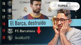 El Barça en DESCENSO en la SUPERLIGA EUROPEA... me ECHAN?