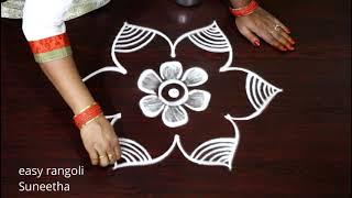 Amazing 3 dots Friday rangoli & kolam designs by Suneetha || Easy & simple rangoli muggulu