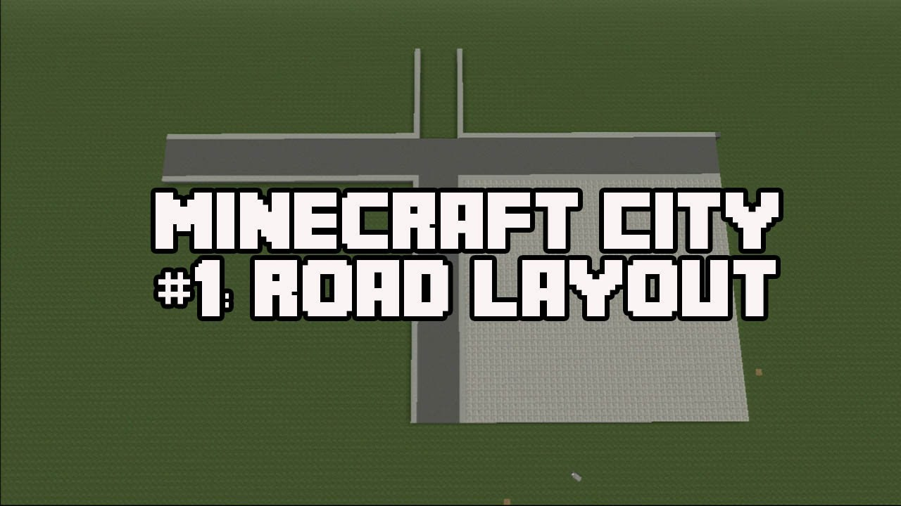 how to make a road on minecraft
