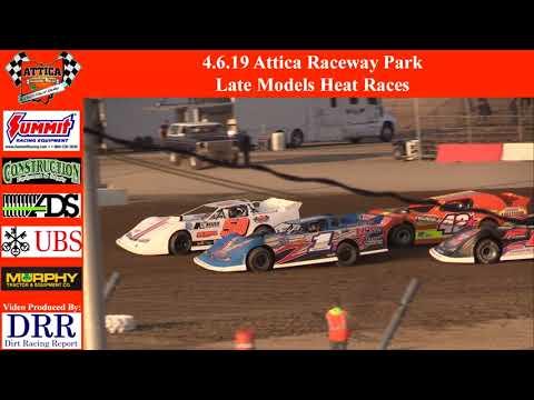 4.6.19 Attica Raceway Park Late Models Heat Races