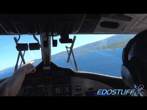 European Coastal Airlines DHC-6-300 - Full Flight with Cockp