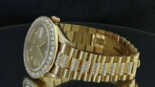 Diamond Presidential Rolex 18038 Single Quickset 18k Yellow Gold Watch(, 2013-06-04T16:19:30.000Z)