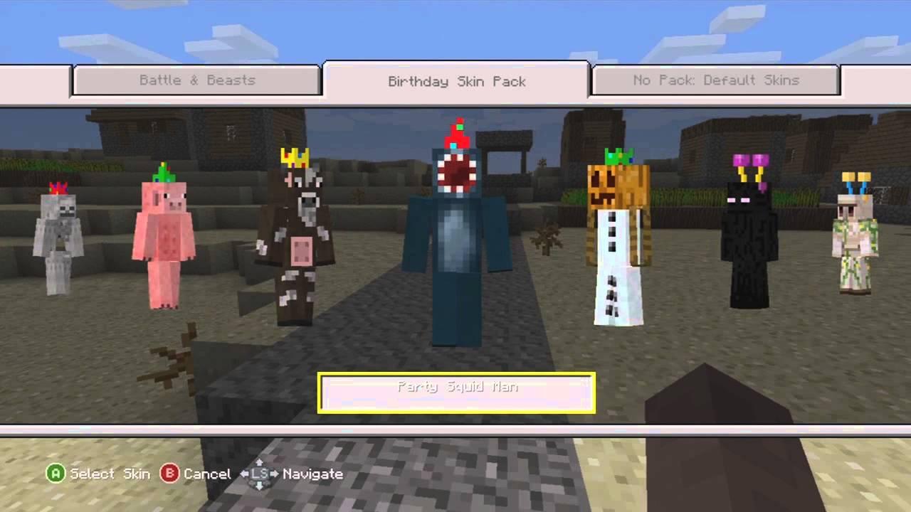 Free minecraft skins xbox 360 youtube.
