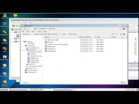 recovery data test (active partition recovery)