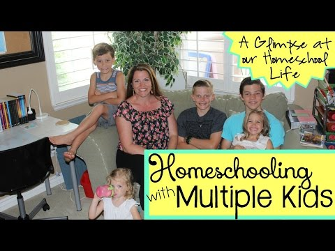 HOW TO HOMESCHOOL WITH MULTIPLE KIDS