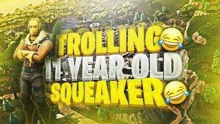 FORTNITE TROLLING ! TROLLING A KID WHO THOUGHT HE COULD HACK !