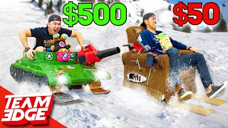 $50 vs $500 Sled Challenge! *DON'T try at home!*