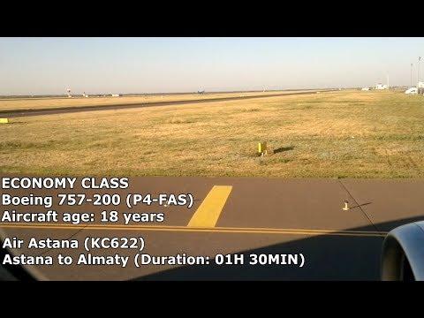 Air Astana Economy Class - Astana to Almaty (KC622) - Boeing 757-200