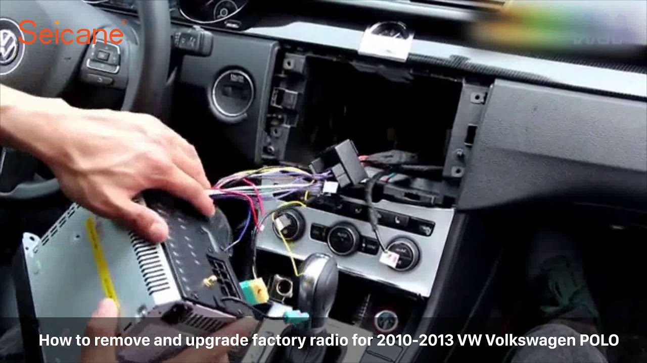 how to remove and upgrade factory radio for 2010 2013 vw. Black Bedroom Furniture Sets. Home Design Ideas