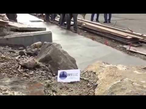 Seattle City Sidewalk Concrete Pour (Onyx L.L.C.)