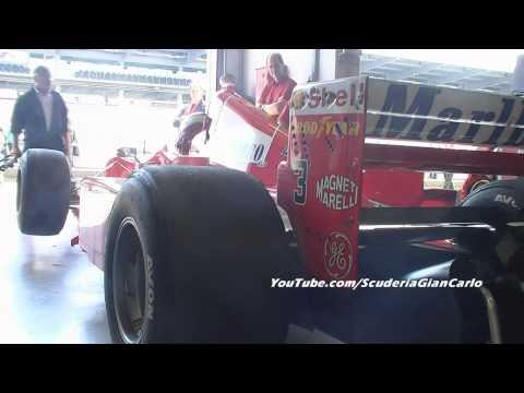 Ferrari F1 startup awsome V12 and V10 sound!!!Great music at Nurburgring!!! 1080P*HD