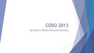 Modelo COSO 2013