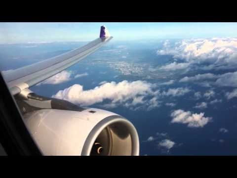 Inside Hawaiian Airbus A330-200 from Honolulu
