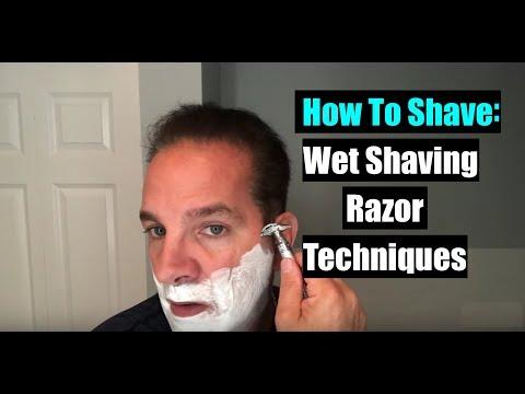 How To Shave - Wet Shaving Razor Techniques