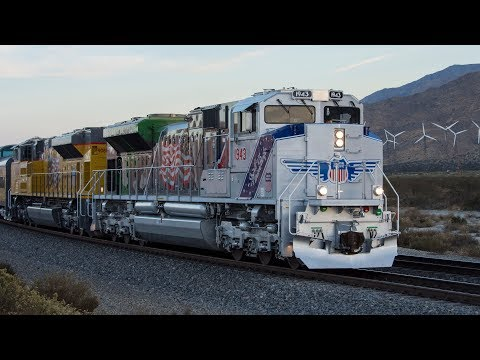 (4K) Railfanning Union Pacific's Yuma and Gila Subdivisions including UP 1943 Chase