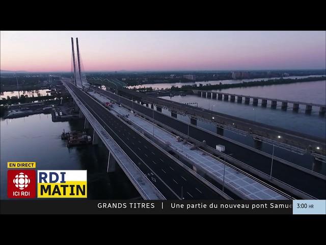 Le pont Samuel-De Champlain maintenant ouvert
