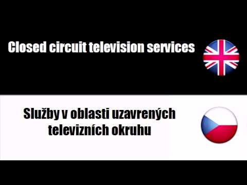 ENGLISH CZECH   Radio and television services