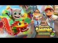 TALKING TOM GOLD RUN IN CHINA vs SUBWAY SURFERS AMSTERDAM | Games For Kids