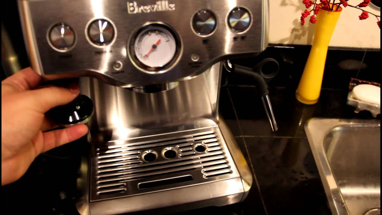 breville coffee machine cleaning instructions
