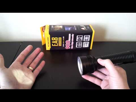 Nitecore EA8 Caveman (XM-L U2, 8xAA) flashlight review, by selfbuilt