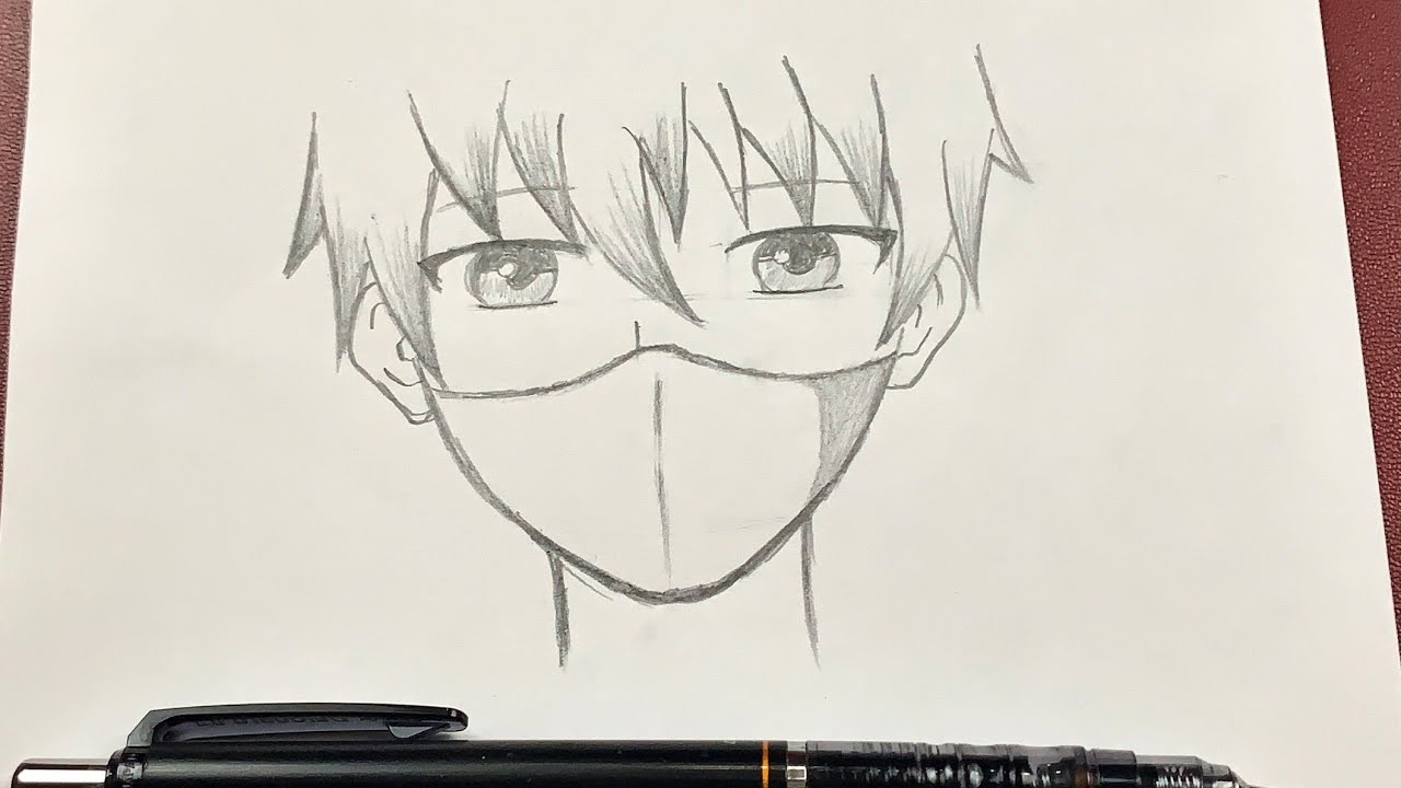 Download Easy anime drawing   how to draw anime boy wearing a mask
