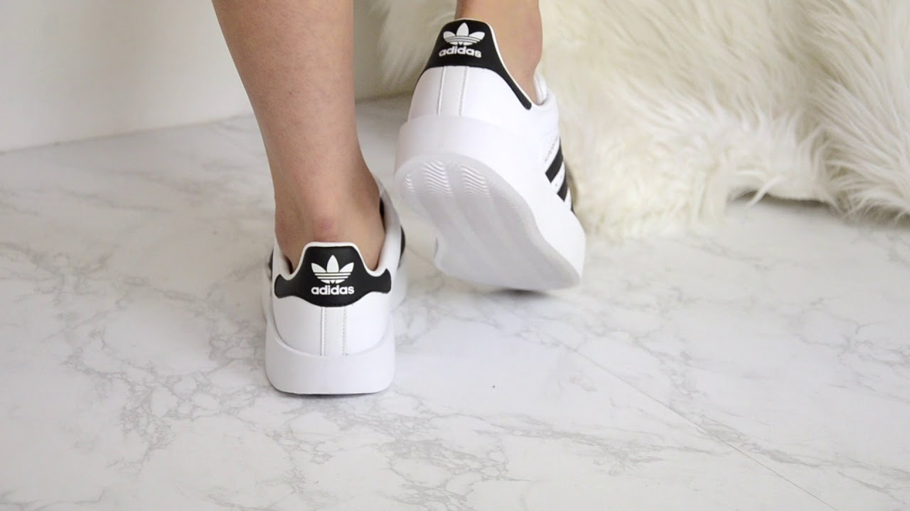 ab8aa6d8ec13 ADIDAS WOMENS SUPERSTAR BOLD W - YouTube