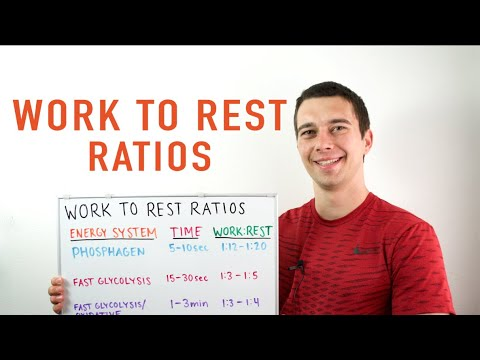 NSCA CSCS Work to Rest Ratio Explained! (ATP/PCr, Anaerobic Glycolysis, Oxidative Energy Systems)