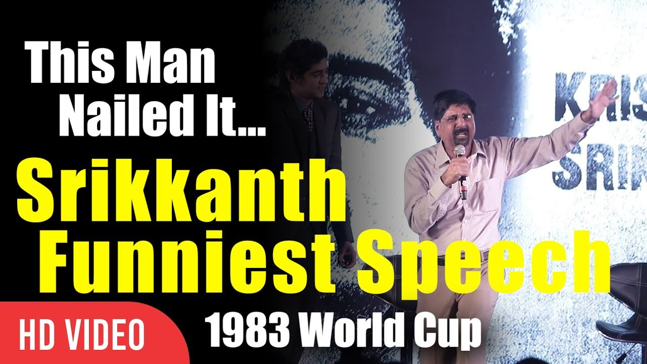Revealing The Untold Truth Of 1983 World Cup | Srikkanth Funniest Speech Ever | Srikkanth Nailed It