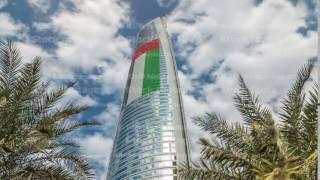 Jumeirah Lakes Towers in Dubai, United Arab Emirates, Dubai, skyscrapers timelapse