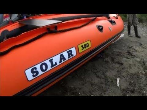 СОЛАР 380. Suz DT15 Проверяем надувное дно. Распаковка новой лодки, проверка в море.