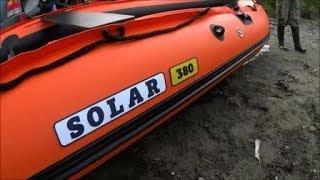 СОЛАР 380. Suz DT15 Перевіряємо надувне дно. Розпакування нового човна, перевірка в море.