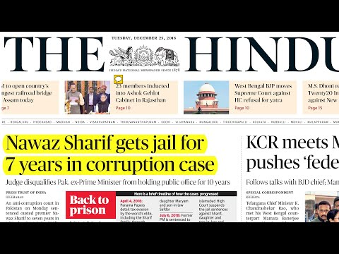 THE HINDU NEWSPAPER 25th December 2018 Complete Analysis