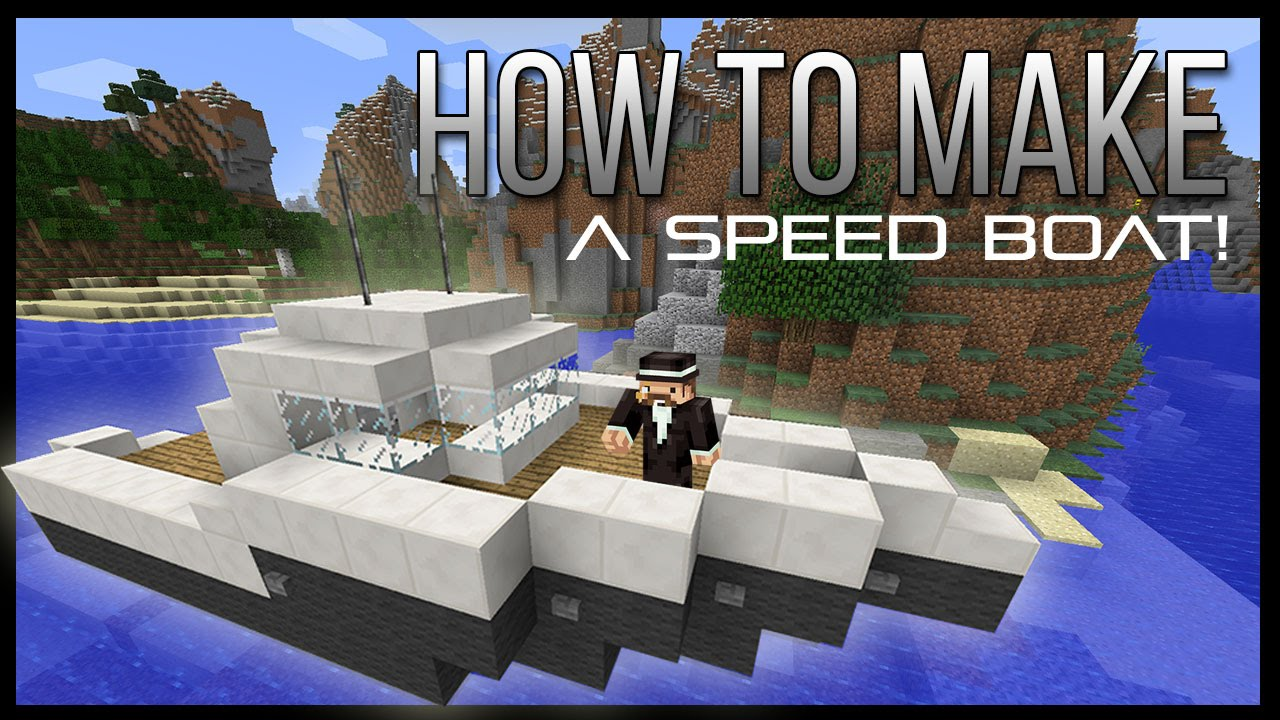 ➤ How to make a Speed Boat in Minecraft! (EASY) - YouTube