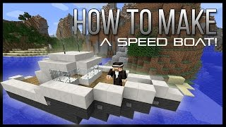 ➤ How to make a Speed Boat in Minecraft! (EASY)