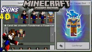 Skins 4D Para Minecraft || SkinPack Dragon Ball Super | Minecraft Skin de Goku