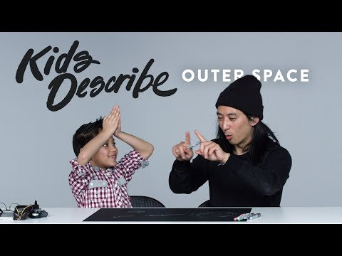 Kids Describe Outer Space to Koji the Illustrator | Kids Describe | HiHo Kids
