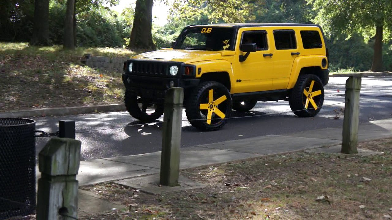 Yellow Hummer H3 on Dub Ballers at Mlk Park - YouTube