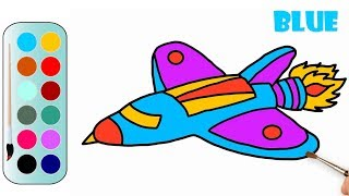 Coloring a Jet Fighter | Jet Fighter Drawing Pages | MHP Learning School