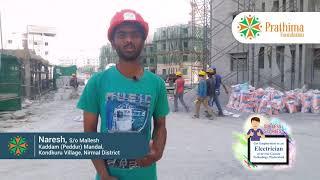 Prathima Foundation Skill Development center | Student Naresh success story