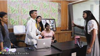 બૈરું આવ્યું ઓફિસ માં | Jabarjast Vemilu Bairu - Latest Gujarati Comedy Video