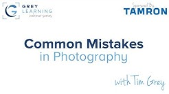 Common Mistakes in Photography - GreyLearning Webinar