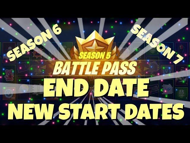 FORTNITE SEASON 5 END DATE! SEASON 6 START DATE! SEASON 7, 8, 9 DATES!