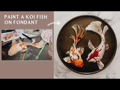 How To Paint A Koi Fish On Fondant